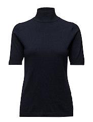 Lima roll neck knit - BLACK IRIS SOLID