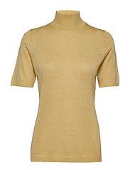 Lima roll neck knit - DUSTY LEMON W/LUREX