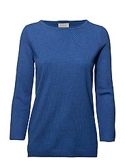 Irene knit pullover - STRONG BLUE MELANGE