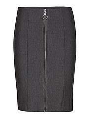 Karin zip skirt - DARK GREY MELANGE