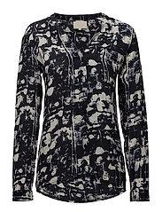 Lilliana shirt - SHADOW PRINT BLACK IRIS