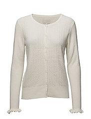 Linnea knit cardigan - CLOUD DANCER