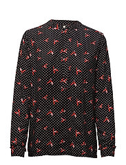 Frigg blouse - ORIGAMI PRINT RED