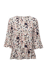Gritt blouse - FOIL SQUARE PRINT
