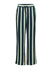 Ebba pants - GREEN STRIPED
