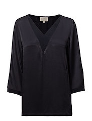 Galissa blouse - BLACK IRIS