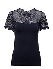 Vanessa short sleeve - BLACK IRIS