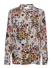 Ladona shirt - GREY FLOWER PRINT