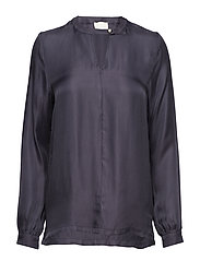 Everly blouse - BLACK IRIS