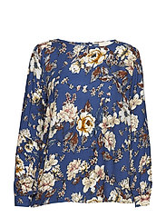 Diviel blouse - BLUE FLOWER PRINT