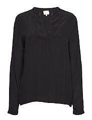 Lilja LS blouse - BLACK