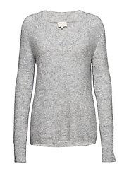 Adora knit pullover - LIGHT GREY MELANGE