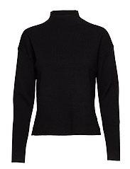 Inez knit pullover - BLACK