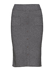 Inez knit skirt - GREY MELANGE