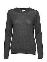 Rose knit pullover - DARK GREY MELANGE