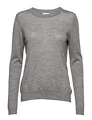 Rose knit pullover - LIGHT GREY MELANGE