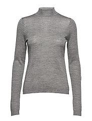 Rose knit roll neck - LIGHT GREY MELANGE