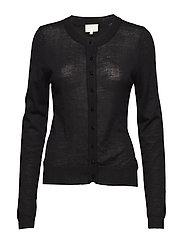 Rose knit cardigan - BLACK
