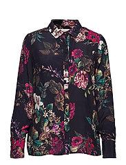 Evalina shirt - MIDNIGHT FLOWER PRINT