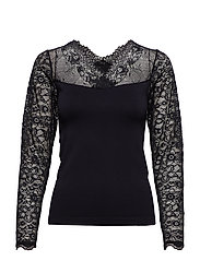 Vanessa V-neck Long Sleeve - BLACK