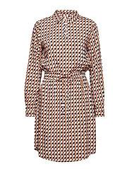 Noelle dress L/S - PEAK PRINT ALMOND