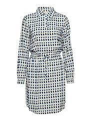 Noelle dress L/S - PEAK PRINT ICY BLUE