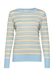 Amara knit pullover - STRIPED ICY BLUE