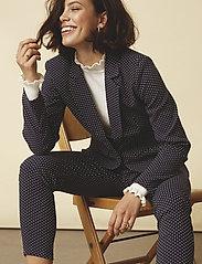 Minus - Carma dot pants 7/8 - broeken med skinny fit - black iris - 0