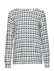 Noelle blouse - PEAK PRINT ICY BLUE