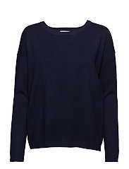 Elne knit - BLACK IRIS SOLID