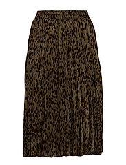Ava leo plisse skirt - LEOPARD PRINT