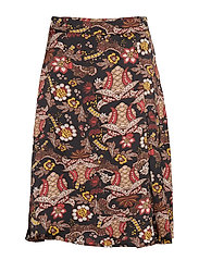 Cardi skirt - AUTUMN BLOOM BLACK PRINT
