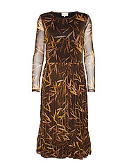 Celly dress - GLITTER TOBACCO PRINT