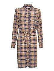 Lota dress - PURPLE ASTER CHECK