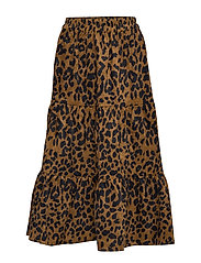 Olia skirt - BROWN LEO PRINT