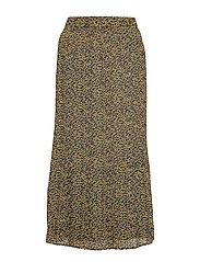 Rikka long skirt - FLOWER FIELD PRINT