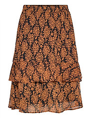 Leyla skirt - ORANGE SUNSET FLOWER PRINT