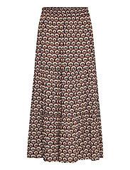 Mili skirt - GRAPHIC SHAPES BLACK IRIS PRINT