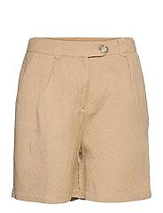 Makira linen shorts - NOMAD SAND