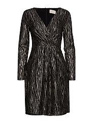 Ilsabeth dress Boozt - BLACK W/GOLD
