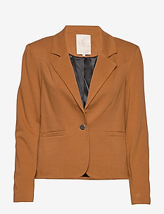 Carmen blazer - blazers - brown sugar