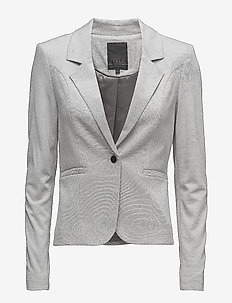 Carmen blazer - blazere - silver grey melange