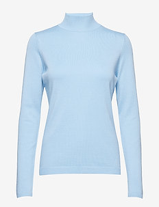 Lana roll neck knit - ICY BLUE