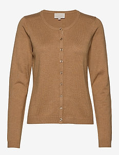 New Laura cardigan - cardigans - almond melange