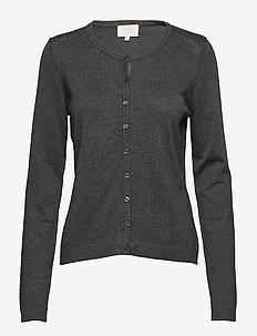 New Laura cardigan - cardigans - dark grey melange