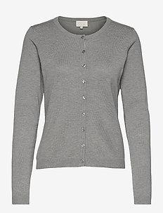 New Laura cardigan - cardigans - light grey melange