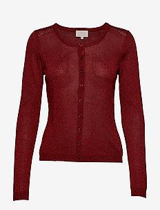New Laura cardigan - cardigans - merlot lurex