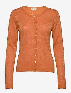 New Laura cardigan - gilets - sunset orange lurex