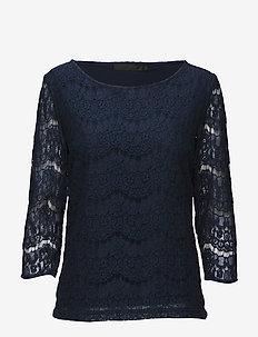 Anastacia Blouse - blouses med lange mouwen - black iris