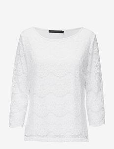 Anastacia Blouse - blouses med lange mouwen - broken white